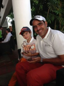 Ramón Silva y Federico su hijo menor