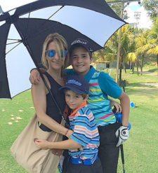 Sra. Silva con Francisco y Federico