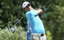 BUENOS AIRES, ARGENTINA (DIC. 6, 2014) - El argentino Fabián Gómez pega su golpe de salida en tee del hoyo 14 durante la tercera ronda del 109º VISA Open de Argentina presentado por Peugeot. Este evento es el último de la temporada 2014 del PGA TOUR Latinoamérica. (Enrique Berardi/PGA TOUR)