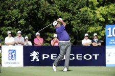 BUENOS AIRES, ARGENTINA (DIC. 4, 2014) - El argentino Ángel Cabrera pega su golpe de salida en tee del hoyo 10 durante la primera ronda del 109º VISA Open de Argentina presentado por Peugeot. Este evento es el último de la temporada 2014 del PGA TOUR Latinoamérica. (Enrique Berardi/PGA TOUR)