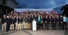 Billy Payne, Presidente de Augusta National y del Masters Tournament, junto a los 109 jugadores del LAAC 2015