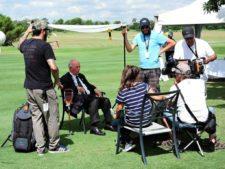 Presidente FVG siendo entrevista por TV internacional
