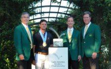 El ganador con los directivos de Augusta National - Gentileza: LAAC/Enrique Berardi.