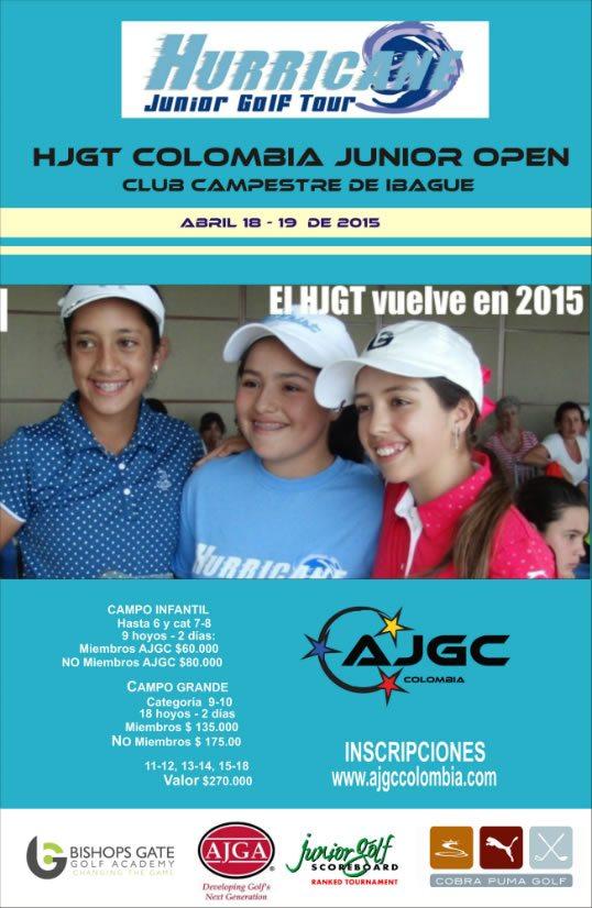 HJGT Colombia Junior Open en Abril en CC Ibagué
