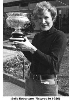 Belle Robertson 1980 (cortesía www.carnoustiegolflinks.co.uk)