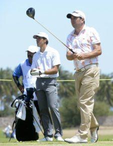 MAZATLAN, MEXICO - MARCH 26: Julio Zapata of Argentina tee of on the18th hole during the first round of the Mazatlan Open presentado pro Heineken, at Estrella del Mar Golf & Beach, on March 26, 2015 in Mazatlan, Mexico. (Enrique Berardi/PGA TOUR)