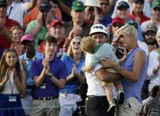 Bubba Watson y familia (cortesía www.deseretnews.com)