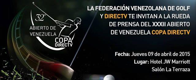 Rueda de Prensa del 32º Abierto de Venezuela