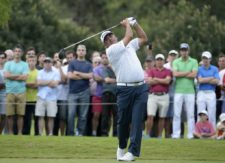 CÓRDOBA, ARGENTINA - APRIL 19: Angel Cabrera of Argentina tee off on the 17th hole during the final round of the 84° Abierto OSDE del Centro presentado por Fiber Corp at Córdoba Golf Club on April 19, 2015 in Córdoba, Argentina. (Enrique Berardi/PGA TOUR)
