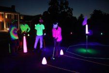 ¿A jugar golf de Noche? (cortesía laserglowgolf.com)