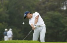 ANTIGUA, GUATEMALA - MAY 21: Diego Velasquez of Colombia tee off on the seventh hole during the PGA TOUR Latinoamérica first round of the Guatemala Stella Artois Open at La Reunion Golf Resort - Fuego Maya on May 21, 2015 in Antigua, Guatemala. (Enrique Berardi/PGA TOUR)