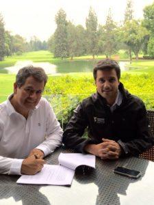 Eduardo Rello Lara, Presidente del Club Campestre de la Ciudad de México, y Diego Diaz, Director General de la Bridgestone America's Golf Cup