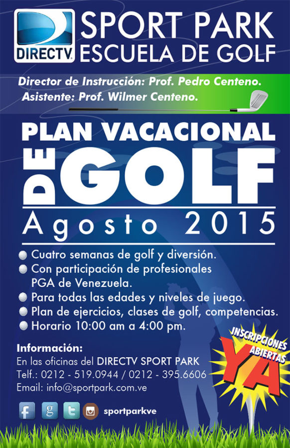DIRECTV Sport Park ofrece Plan Vacacional de Golf 2015