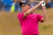 Spaniard Miguel Angel Jimenez fired a 1-under 69 on Thursday (cortesía USGA)