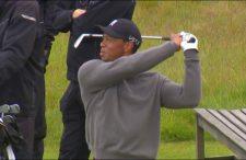Tiger practica el lunes (cortesía www.komonews.com)