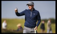 Amateur Paul Dunne of Ireland celebrates a putt on the 15th green during the third round of the 144th Open Championship at The Old Course on July 19, 2015 in St Andrews, Scotland. (Photo by Streeter Lecka-Getty Images)