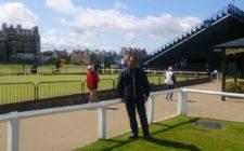 Javier Claux, Presidente de la Federación Peruana de Golf, en St Andrews.