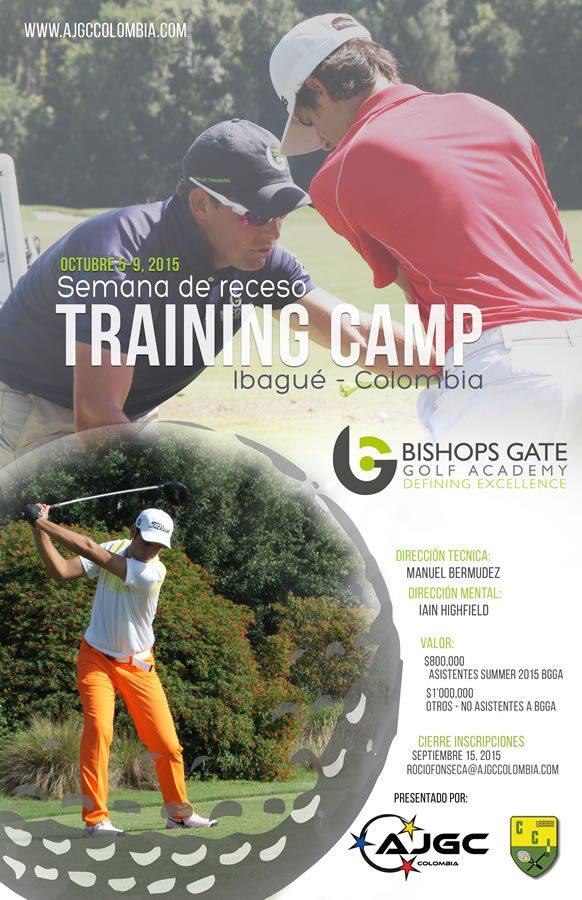 Semana de receso Training Camp Bishops Gate Golf Academy, Club Campestre de Ibague octubre 5-9, 2015