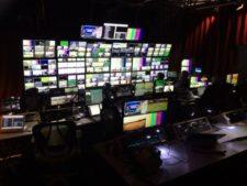 Cuarto de Control Central de ESPN para la transmisión del British Open (cortesía sports.yahoo.com)