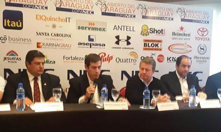 Arranca el Abierto del Paraguay Copa NEC con grandes figuras