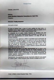 Gracias a Carlos Eduardo Frías Orden al Mérito de la FVG