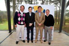 Álvaro Canessa; Nicolás Ortolani, Presidente del Club del Lago Golf; Gabriel Figueredo, Gerente del Club del Lago Golf; y Jack Warfield, Presidente del PGA TOUR Latinoamérica