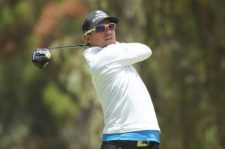 QUITO, ECUADOR - SEPTEMBER 08: Diego Velázquez of Colombia tee off on the seventh hole during practice for the PGA TOUR Latinoamerica All you need is Ecuador Open at Quito Golf and Tennis Club on September 9, 2015 in Quito, Ecuador. (Enrique Berardi/PGA TOUR)