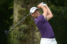 RIO DE JANEIRO, BRAZIL - SEPTEMBER 26: Alexandre Rocha of Brazil tee off on the eighth hole during the third round of the Aberto do Brasil presented by Credit Suisse Hedging Griffo at Itanhangá Golf Club on September 26, 2015 in Rio de Janeiro, Brazil. (Enrique Berardi/PGA TOUR)