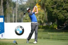 RIO DE JANEIRO, BRAZIL - SEPTEMBER 25: Alex Rocha of Brazil tee off the second hole during the second round of the Aberto do Brasil presented by Credit Suisse Hedging Griffo at Itanhangá Golf Club on September 25, 2015 in Rio de Janeiro, Brazil. (Photo by Enrique Berardi/PGA TOUR)