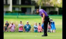 Andrew Loupe en el green del 18 (cortesía PGA TOUR/ Cliff Hawkins)