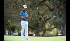 Kevin Na en el green del hoyo 4 (cortesía PGA TOUR/ Steve Dykes)