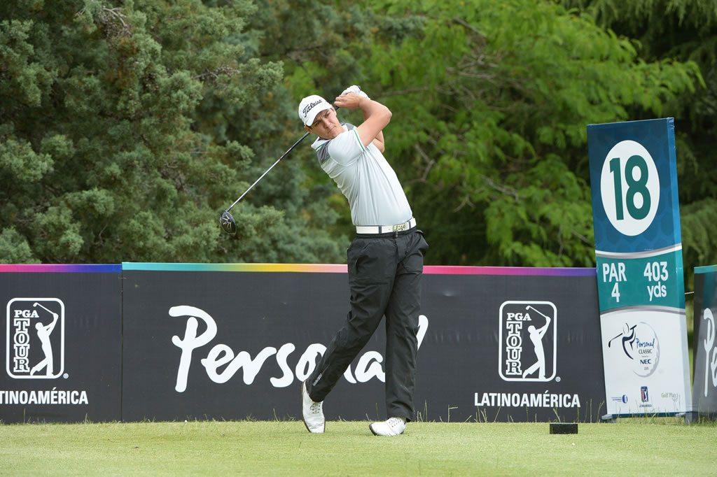 El brasileño Rafael Becker es el líder del Personal Classic presentado por NEC / Gentileza: Enrique Berardi/PGA TOUR