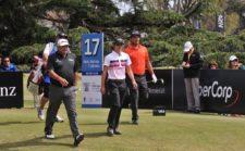 El grupo de Ángel Cabrera, Tommy Cocha y Fabián Gómez / Gentileza: Enrique Berardi/PGA TOUR
