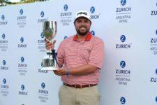 """Kent Bulle (USA), fue terminó segundo y se quedó con el """"Zurich Argentina Swing"""" / Gentileza: Enrique Berardi/PGA TOUR"""