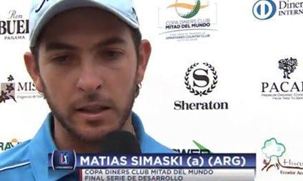 Amateur Matías Simaski toma ventaja de cinco golpes