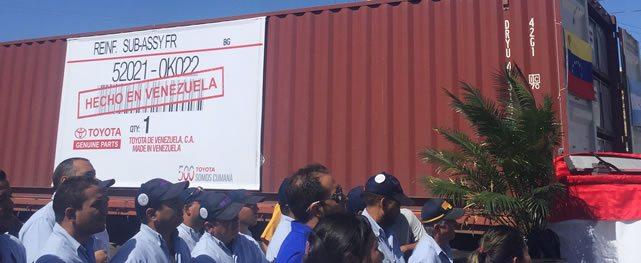 Toyota de Venezuela comenzará a exportar partes hacia Argentina
