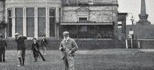 Los primeros golfistas profesionales en Leith Links (cortesía Library of Congress)