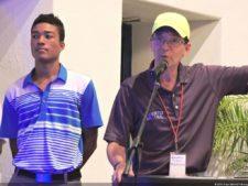 Malik Levens y Eduardo Pérez Paris en el cierre del XII Abierto Sambil en Izcaragua CC