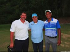 Richard Vis, Ing. Alfredo Cohen y Malik Levens en Izcaragua CC