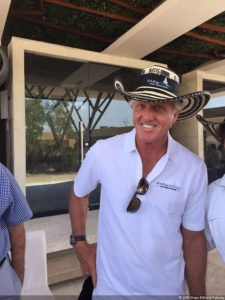 Greg Norman visita Colombia