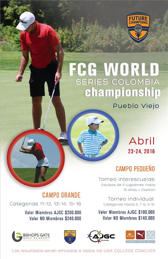Programa Futures Champions para el golf juvenil colombiano