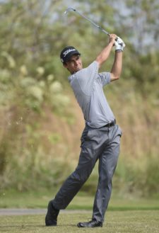 RIO HATO, PANAMA - MARCH 18: Edward Figueroa of Puerto Rico hits from the 12th hole fairway during the second round of the PGA TOUR Latinoamerica Lexus Panama Classic at Buenaventura Golf Club on March 18, 2016 in Rio Hato, Panama (Enrique Berardi/PGA TOUR)