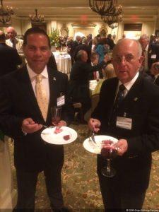 Javier Salaverría (Directivo FVG) y Freddy Alcántara (Presidente FVG) en Cocktail USGA en Augusta