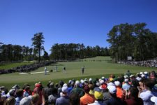 during Round 3 at Augusta National Golf Club on Saturday April 9, 2016 (cortesía Augusta National Inc.)
