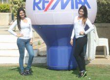 Estas son la lindas promotoras de ReMax Millenium, uno de los patrocinadores del evento