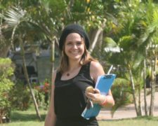 Roraima Socarrás, de mercadeo del MCC, es otra de las lindas muchachas que con su trabajo y belleza, han impulsado el éxito del evento