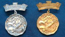 Medallas Olímpicas Oro y Plata 1904 (cortesía USGA.org)