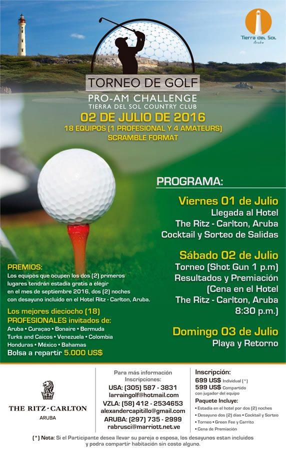 Torneo de Golf Pro-Am Challenge Tierra del Sol Country Club, 2 de Julio 2016