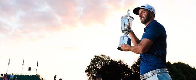 Dustin Johnson sobresaliente  en triunfo del US Open