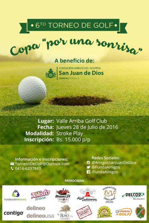 """6ta Edición del Torneo de Golf """"Copa por una Sonrisa"""", 28 de julio, Valle Arriba Golf Club"""